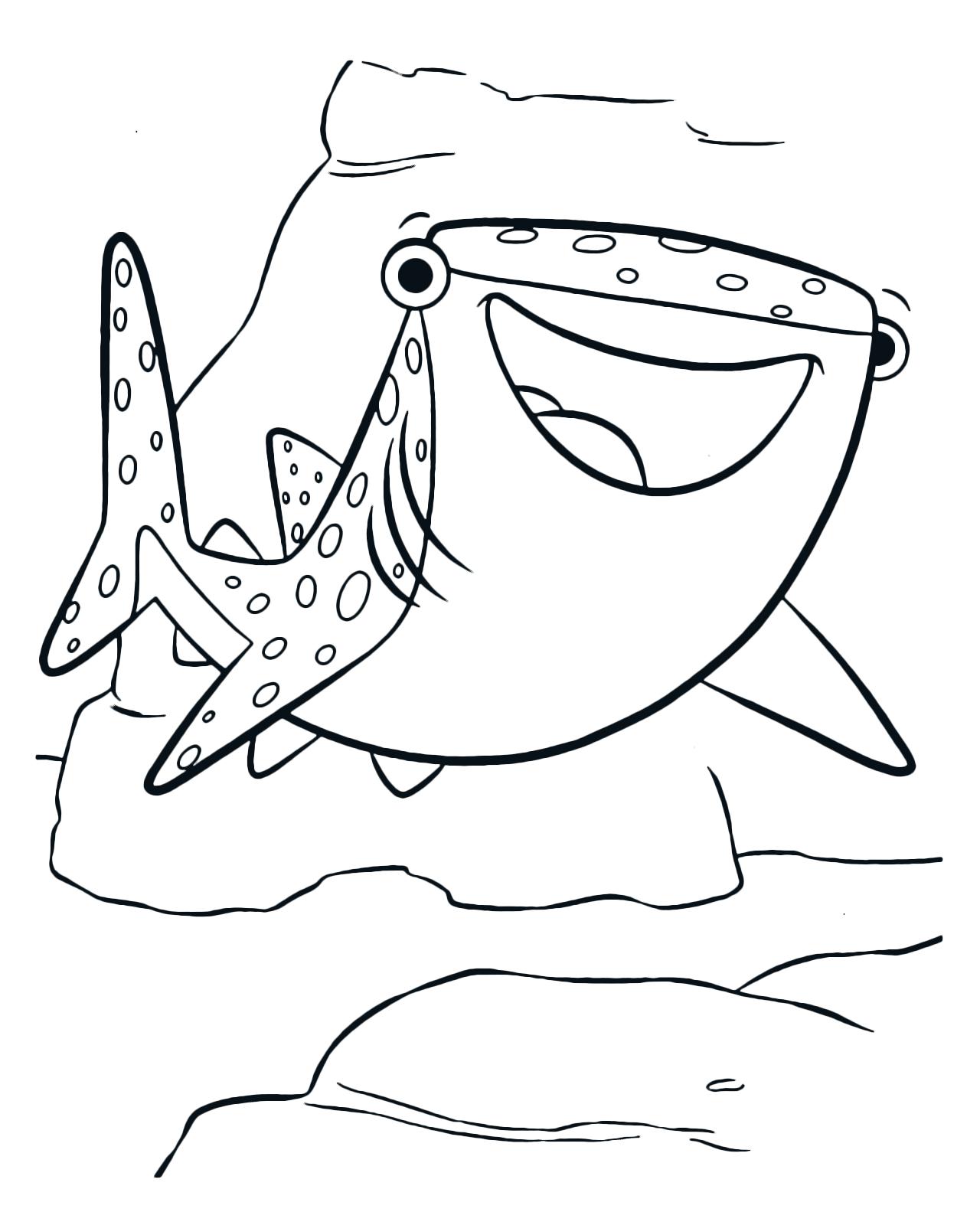 Alla ricerca di dory destiny lo squalo balena amica d for Immagini tigre da colorare