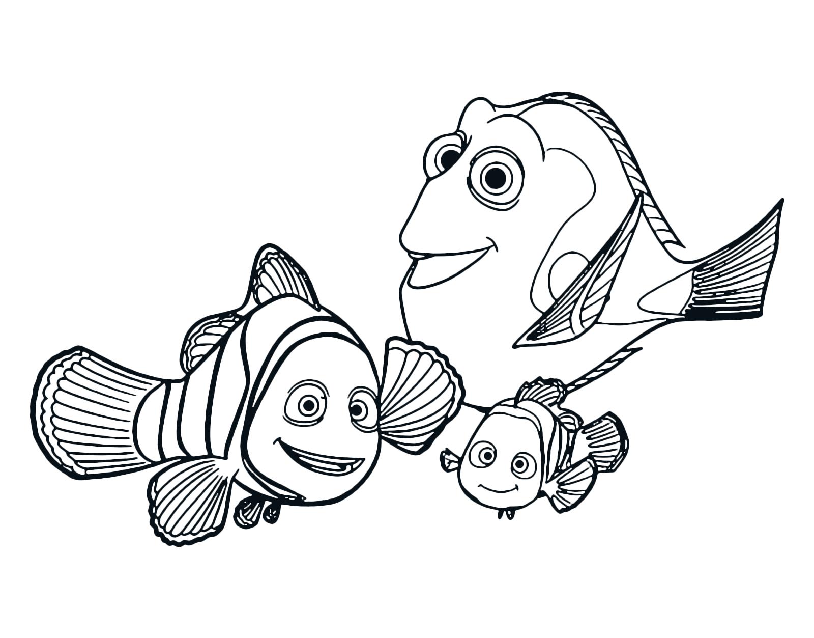 Alla ricerca di dory dory marlin e nemo felicemente insieme for Disegno pagliaccio da colorare