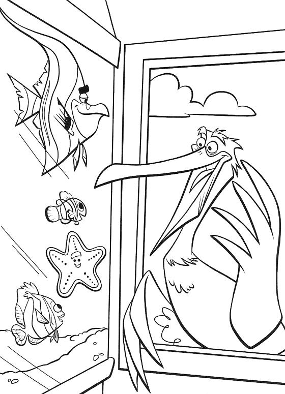 Alla ricerca di nemo amilcare parla alla finestra - Finestra da colorare ...