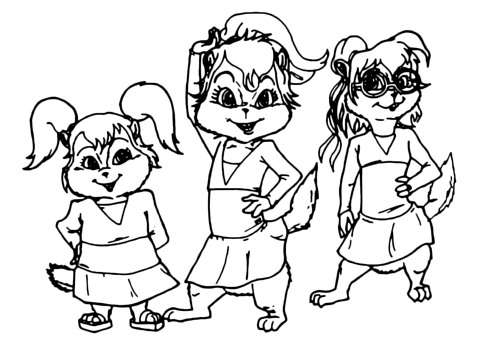 Alvin and the chipmunks le chippetts brittany miller for Alvin da colorare