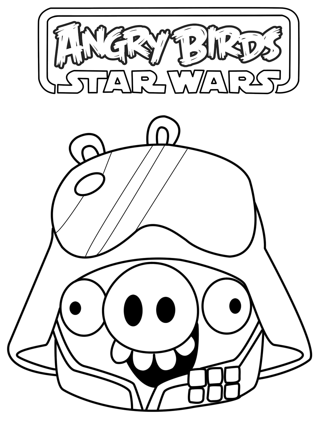 angry birds star wars darth vader coloring pages free here