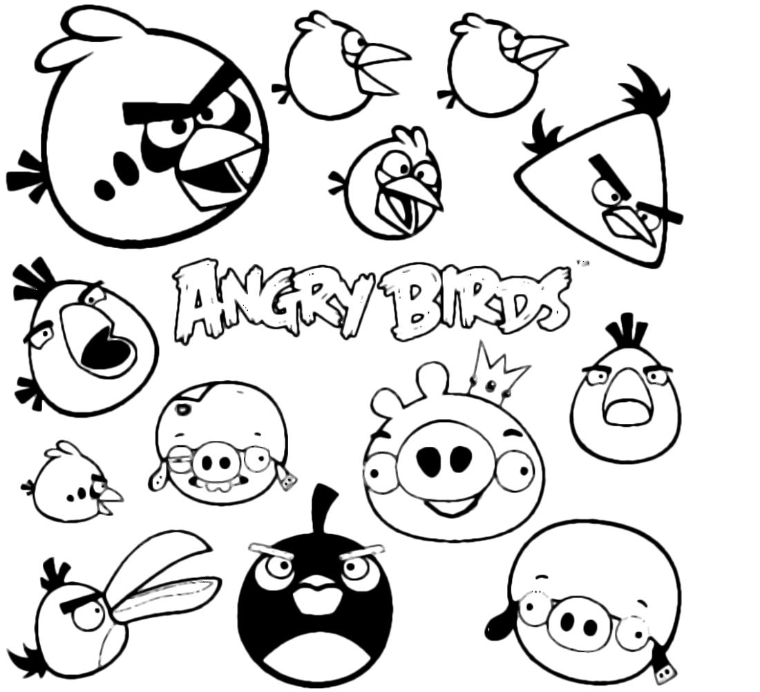 Disegni Di Angry Birds Da Colorare