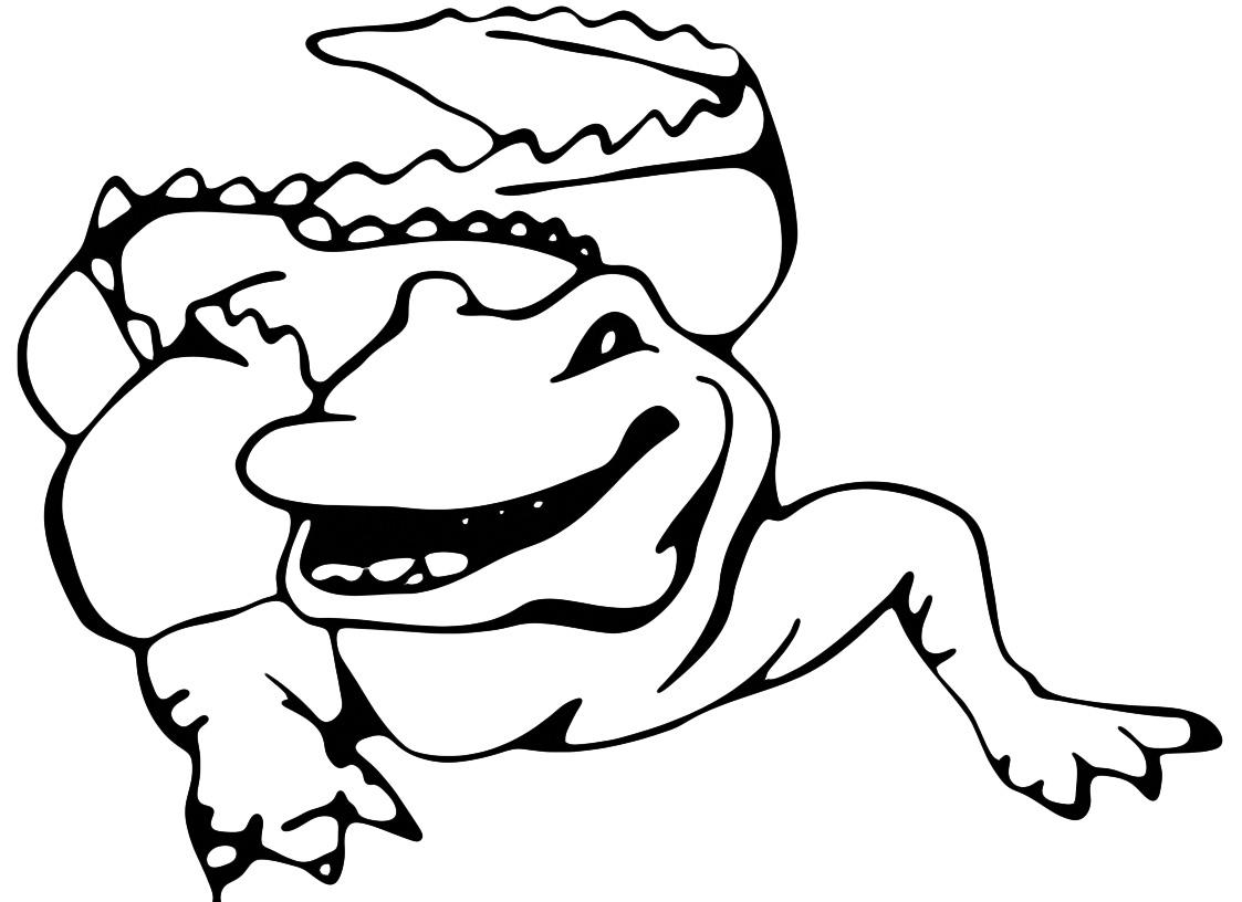 Animali coccodrillo for Coccodrillo da colorare