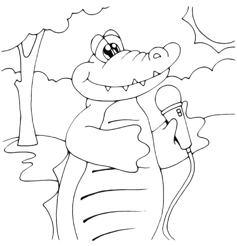Animali coccodrillo che canta for Coccodrillo da colorare
