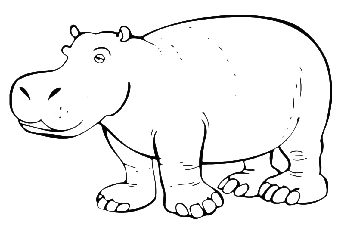 Animali ippopotamo assonnato - Immagini di animali da stampare gratuitamente ...