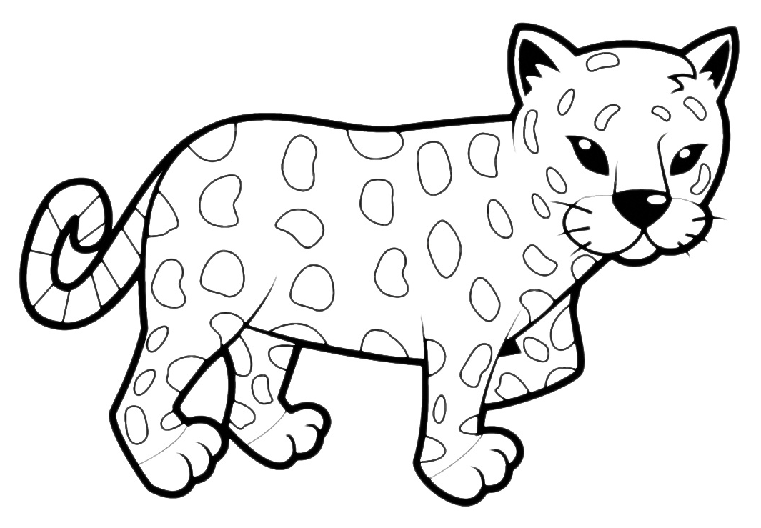 Animali leopardo cucciolo - Cucciolo da colorare stampabili ...