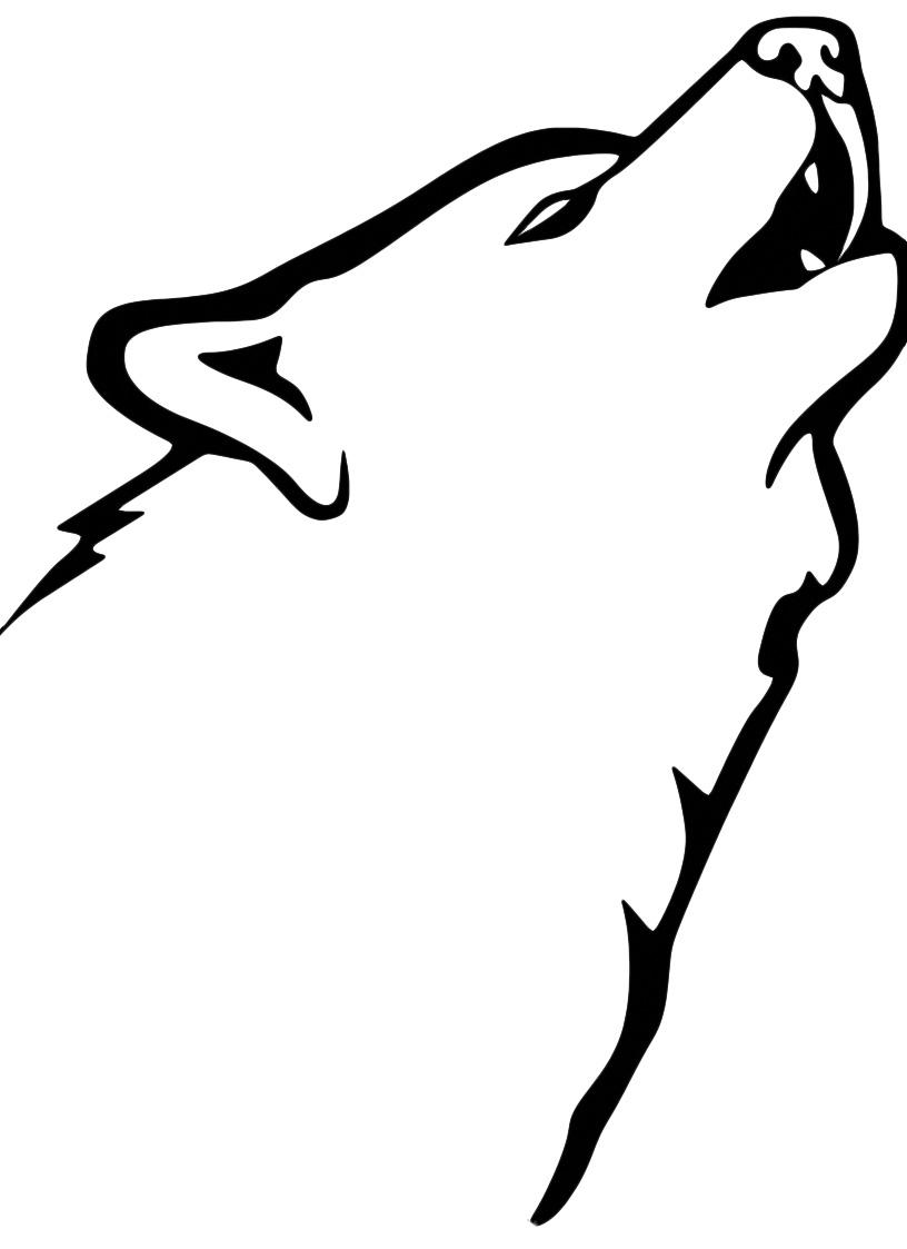 Animali lupo che ulula for Lepre immagini da stampare