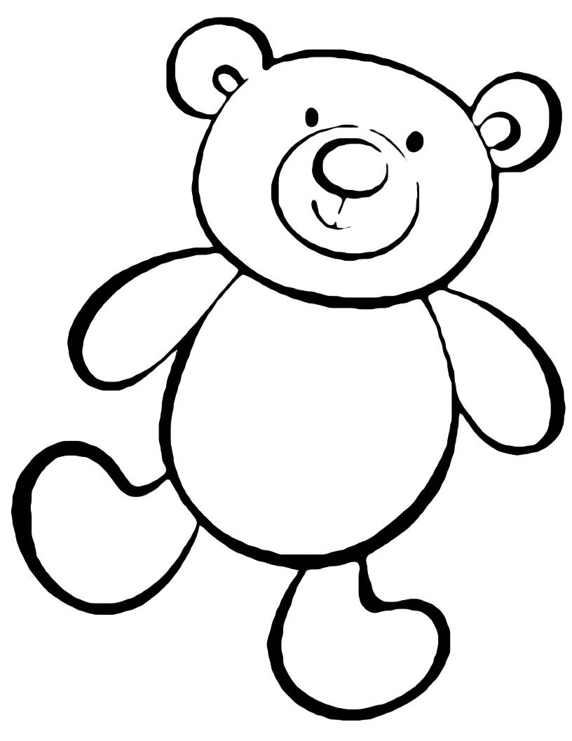 Animali orsetto giocattolo - Orsacchiotto da colorare in ...