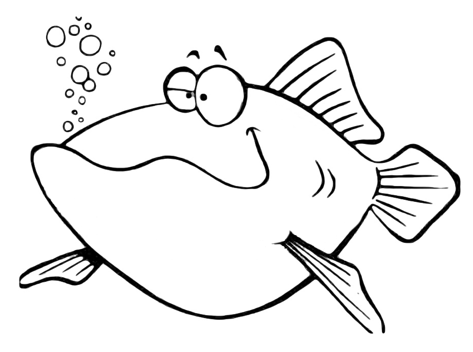 Animali pesce simpatico for Pesci da stampare e colorare