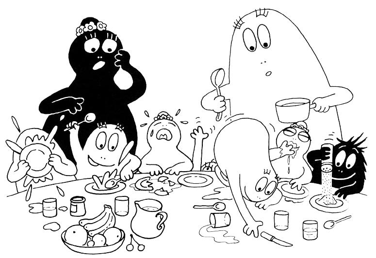 Barbapapa i barbapapa a cena for Immagini della pimpa da colorare