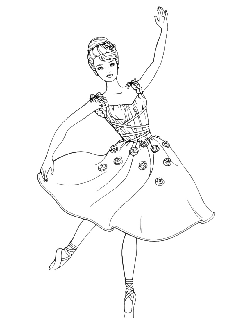 ballerina chelsea barbie coloring pages - photo#5