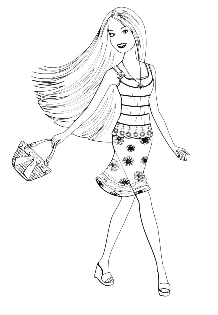 Barbie barbie con la borsa for Pimpa da stampare e colorare