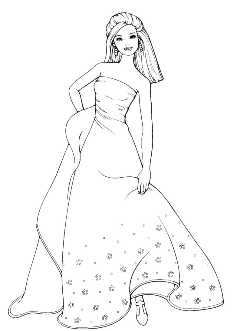 barbie barbie in vestito da sera