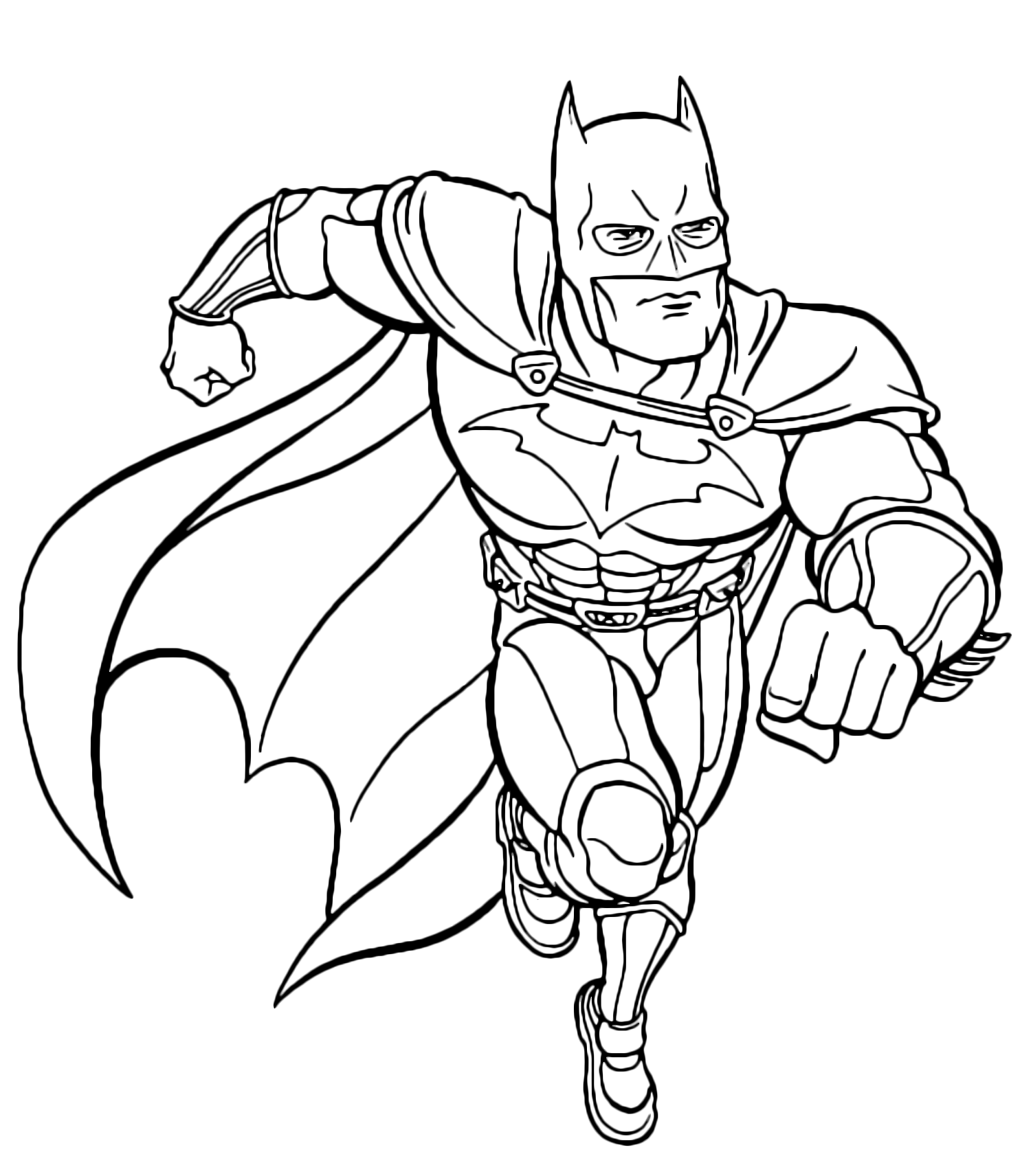 Batman batman corre per sconfiggere i nemici for Disegni spiderman da colorare gratis