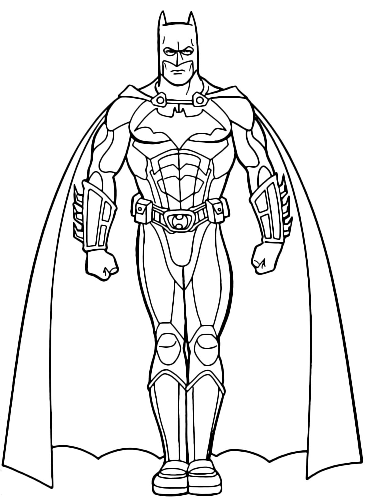 Batman Coloring Pages Pdf : Disegni di quot batman da colorare
