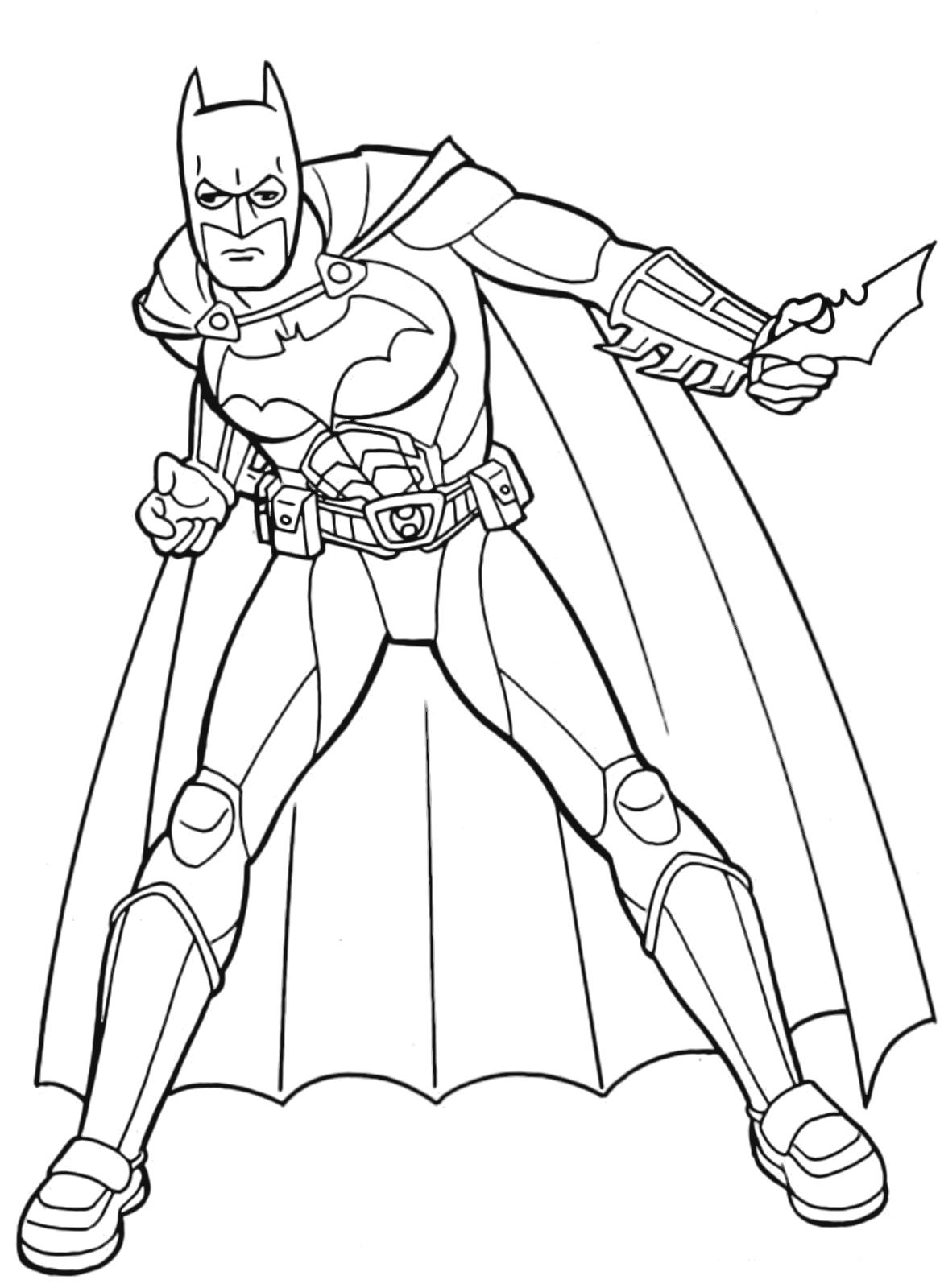 Batman batman pronto a lanciare la stella a forma di - Immagini pipistrello da stampare ...