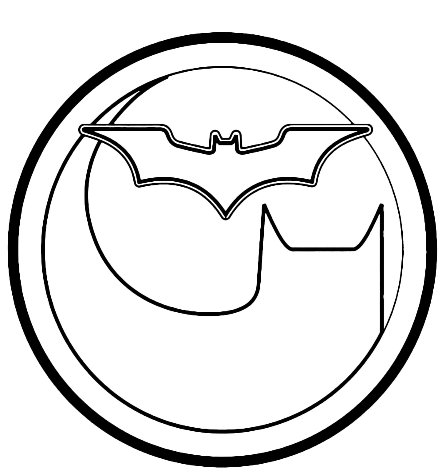 Bonito Símbolo Batman Para Imprimir Para Colorear Galería ...