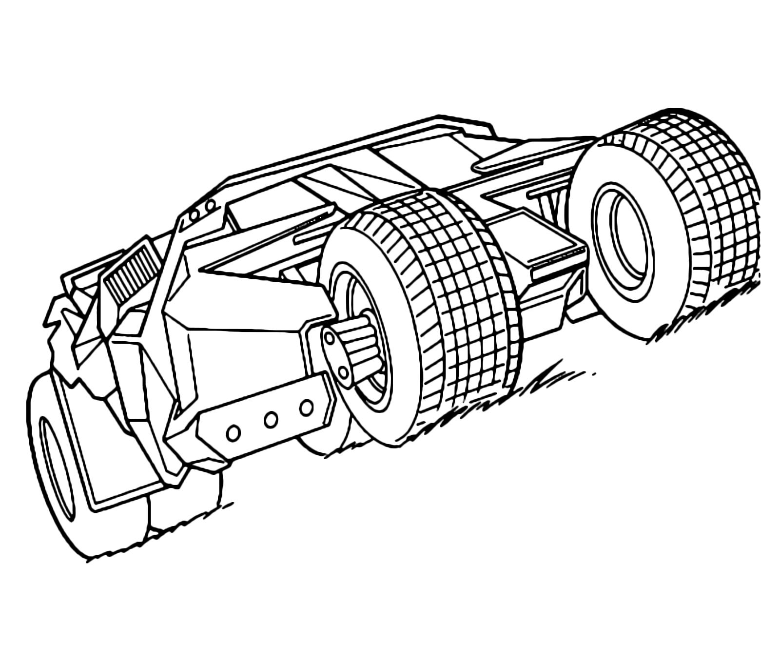 disegni da colorare macchina di batman