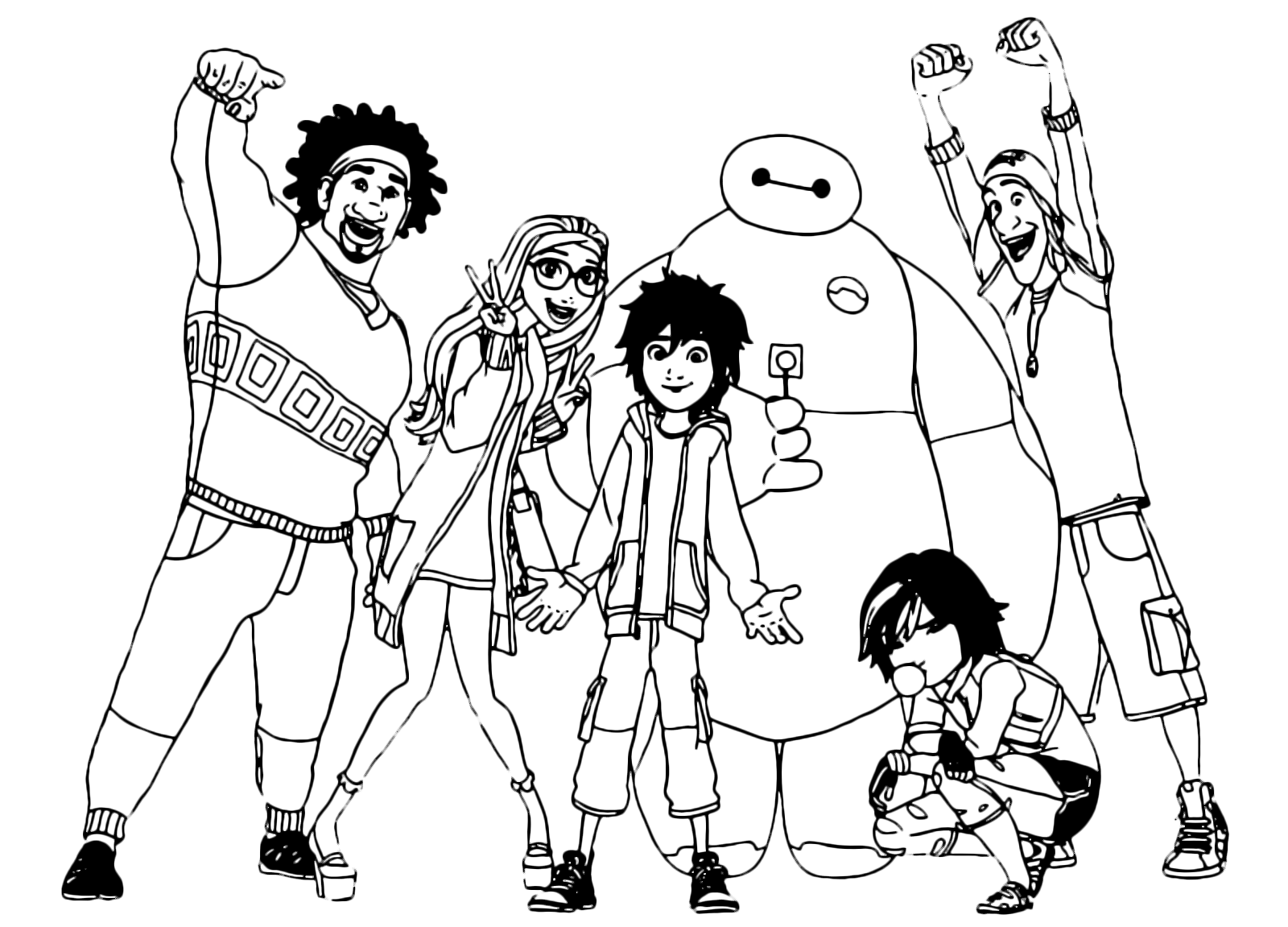 Free Coloring Pages Of Wasabi Big Hero 6
