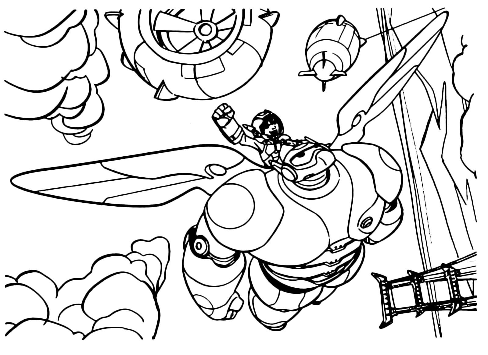 Big Hero 6 Hiro Vola Sulle Spalle Di Baymax