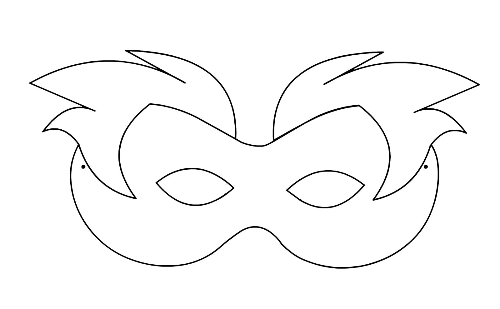 Carnevale Maschera Con Capelli Da Stampare E Colorare