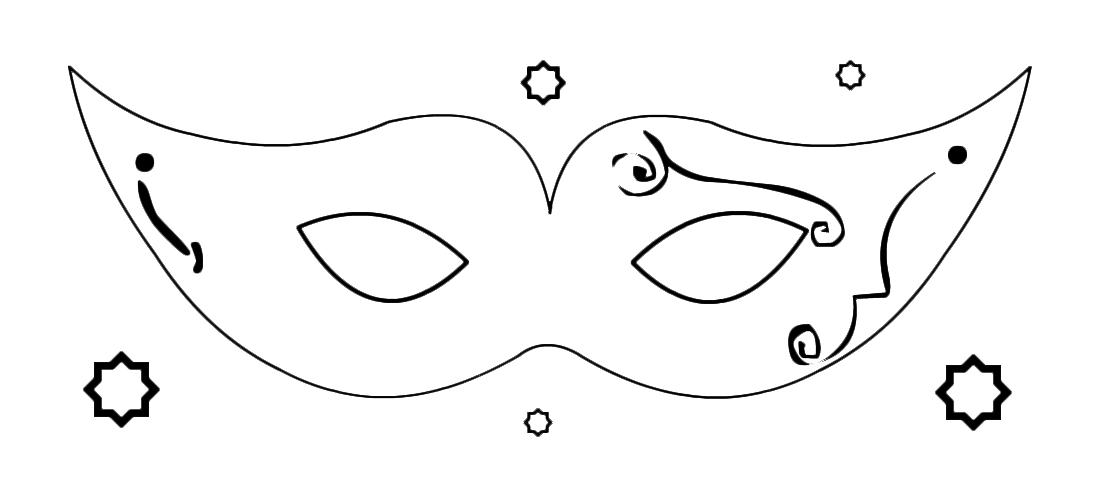 Carnevale Maschera Da Dama Di Corte Da Colorare