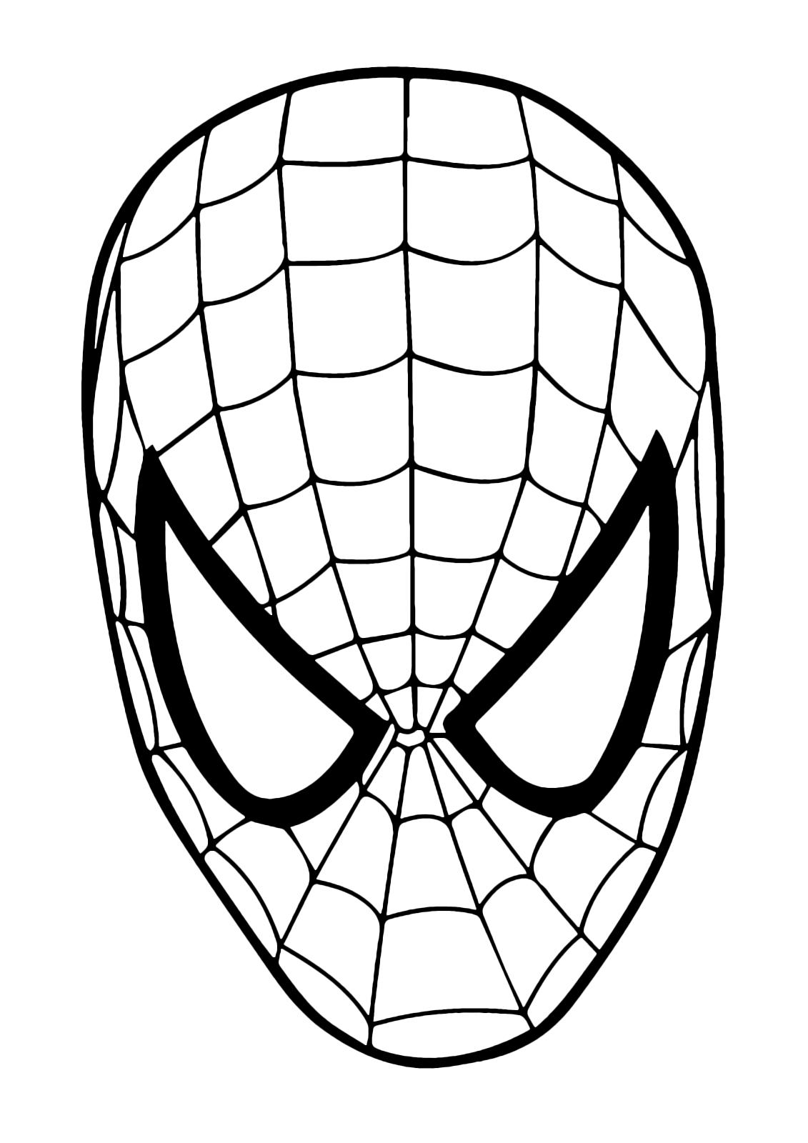 Carnevale maschera di spiderman da colorare for Spiderman da colorare pdf