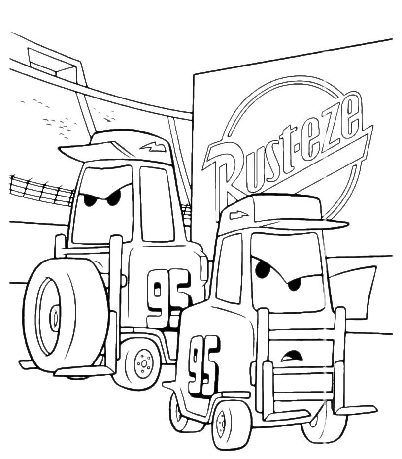 Cars i carrelli elevatori arrabbiati for Cars 2 da stampare