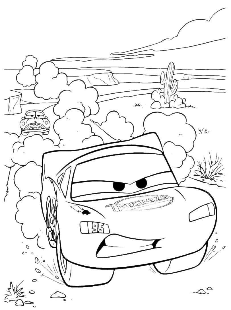 Cars saetta mcqueen gareggia con doc hudson for Cars 2 da stampare