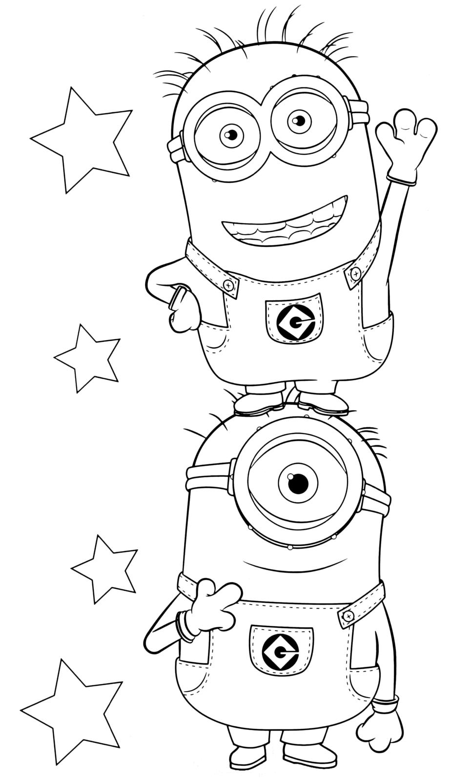 Cattivissimo me i simpatici minions ti salutano for Minions immagini da colorare