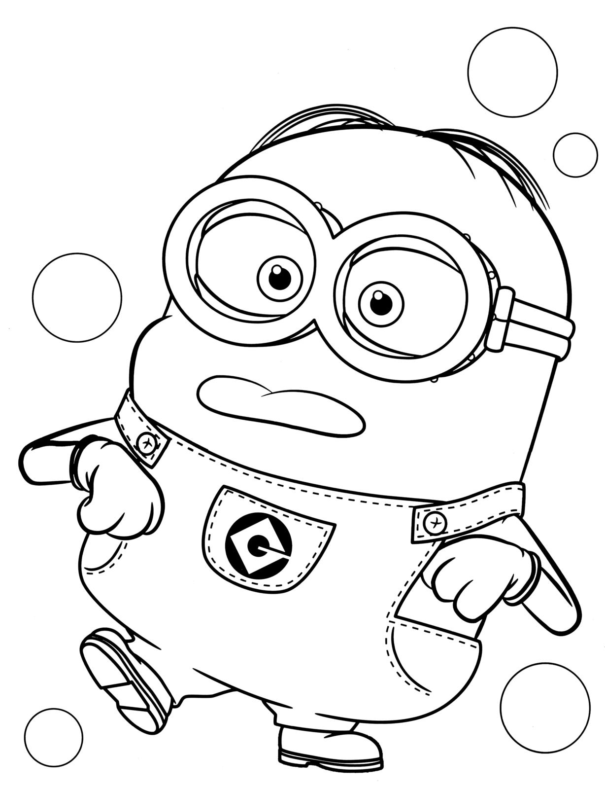 Cattivissimo me il minion dave burlone fa le linguacce for Minions immagini da stampare