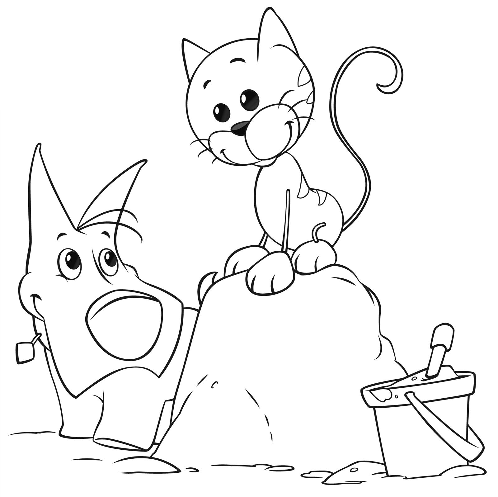 Cuccioli portatile e olly giocano sulla sabbia for Super pigiamini disegni da colorare