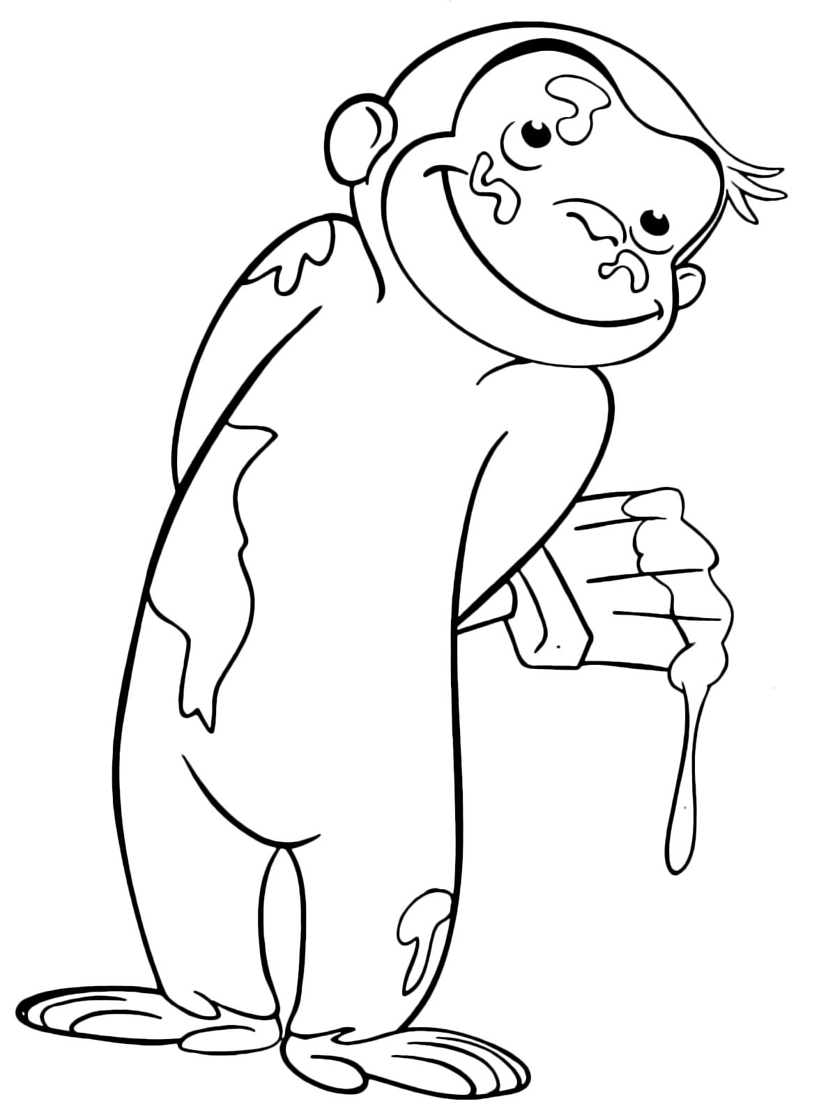 Bella Albero Di Banane Con Scimmie I Disegni Da Colorare Migliori