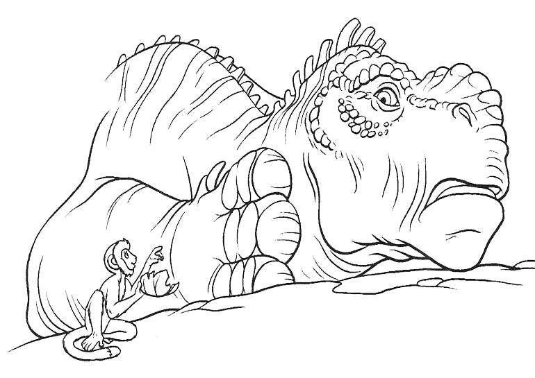 """disegni di """"dinosauri film"""" da colorare"""