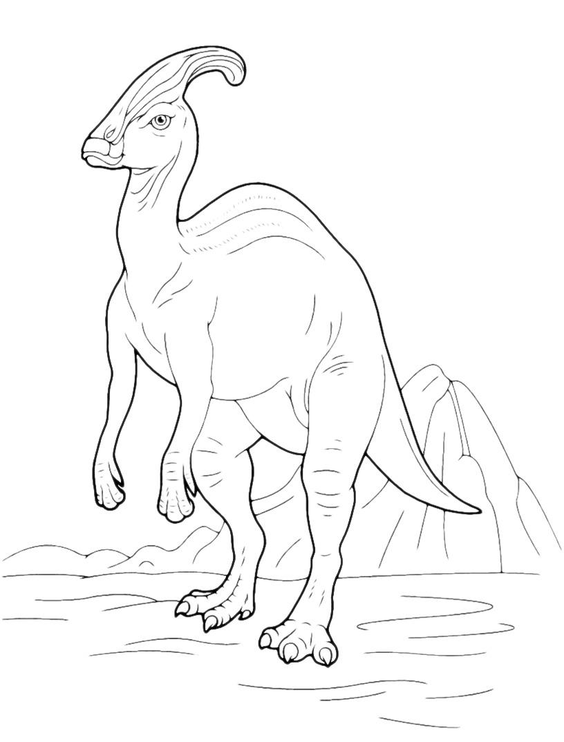 Dinosaur Parasaurolophus Coloring Pages Parasaurolophus Coloring Page