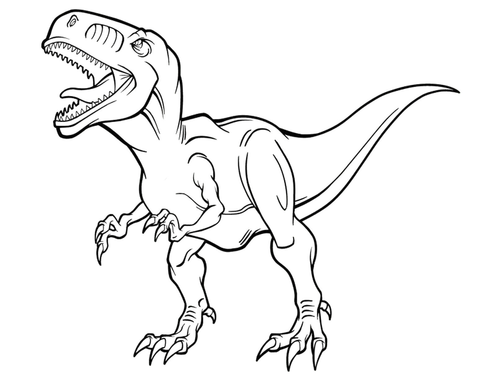 Dinosauri un albertosauro scruta l 39 orizzonte in cerca di for Disegni da colorare dinosauri