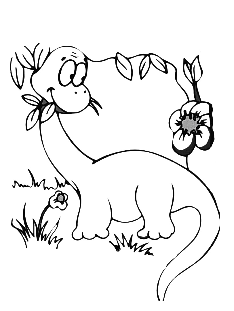 Dinosauri un tenero diplodoco mangia l 39 erba for Disegni da colorare dinosauri