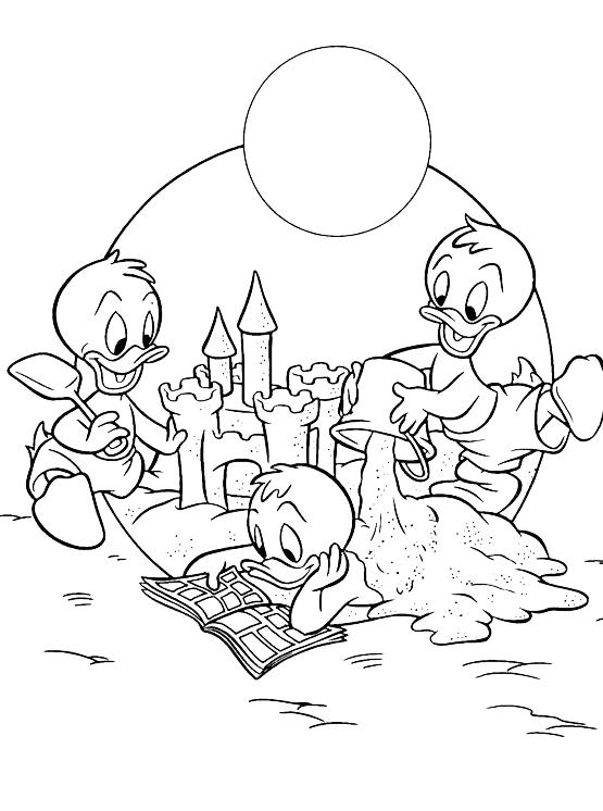 Disney Classici Qui Quo Qua Sulla Spiaggia