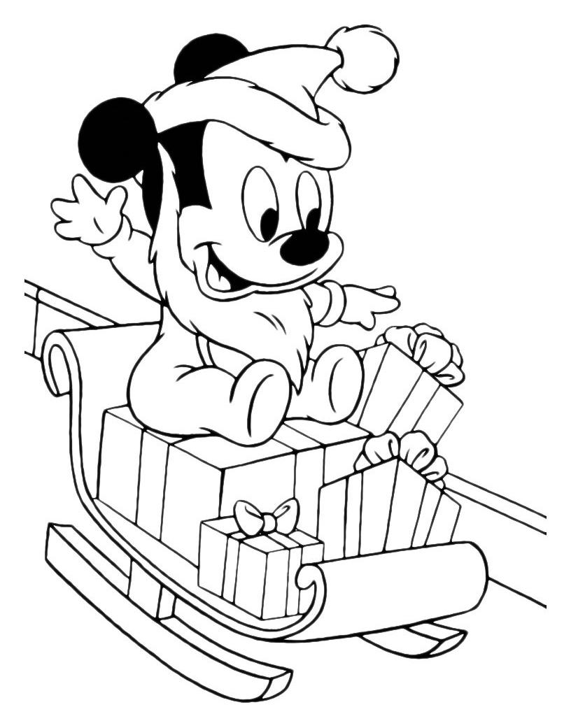 Disney Classici Topolino Da Piccolo Travestito Da Babbo Natale
