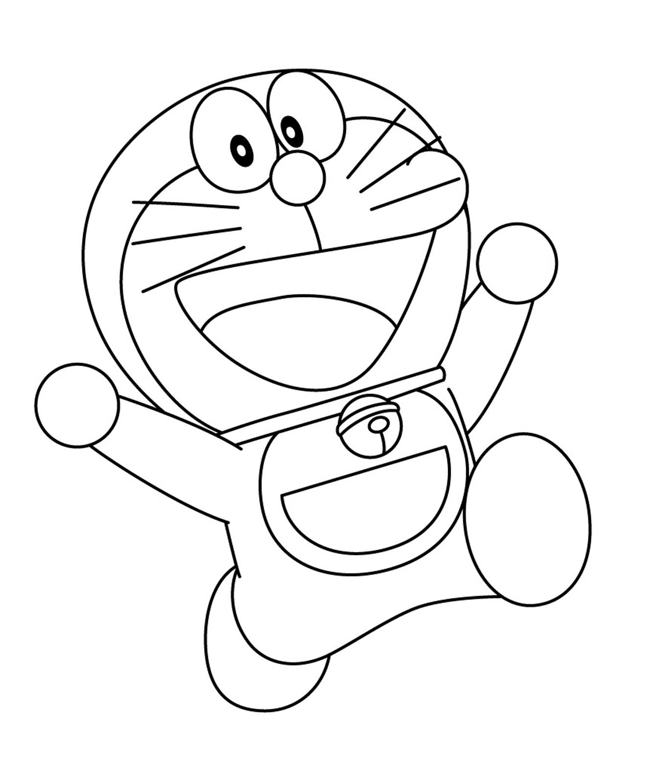Doraemon doraemon corre e salta felice for Disegni da colorare doraemon