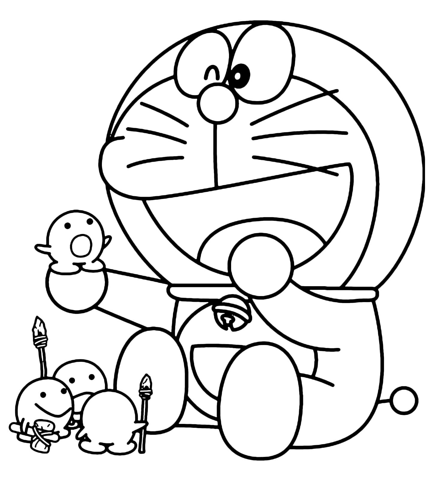 Doraemon doraemon gioca con degli strani animaletti for Disegni da colorare doraemon