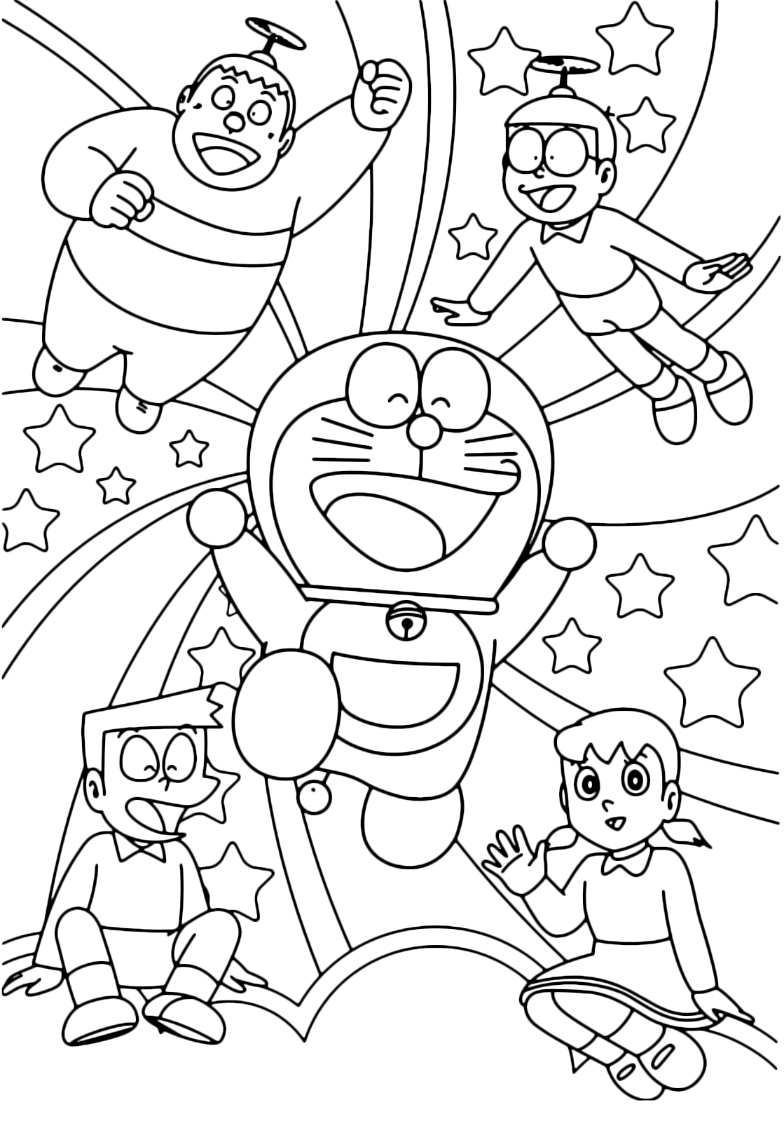 nobita pages for coloring photo 33