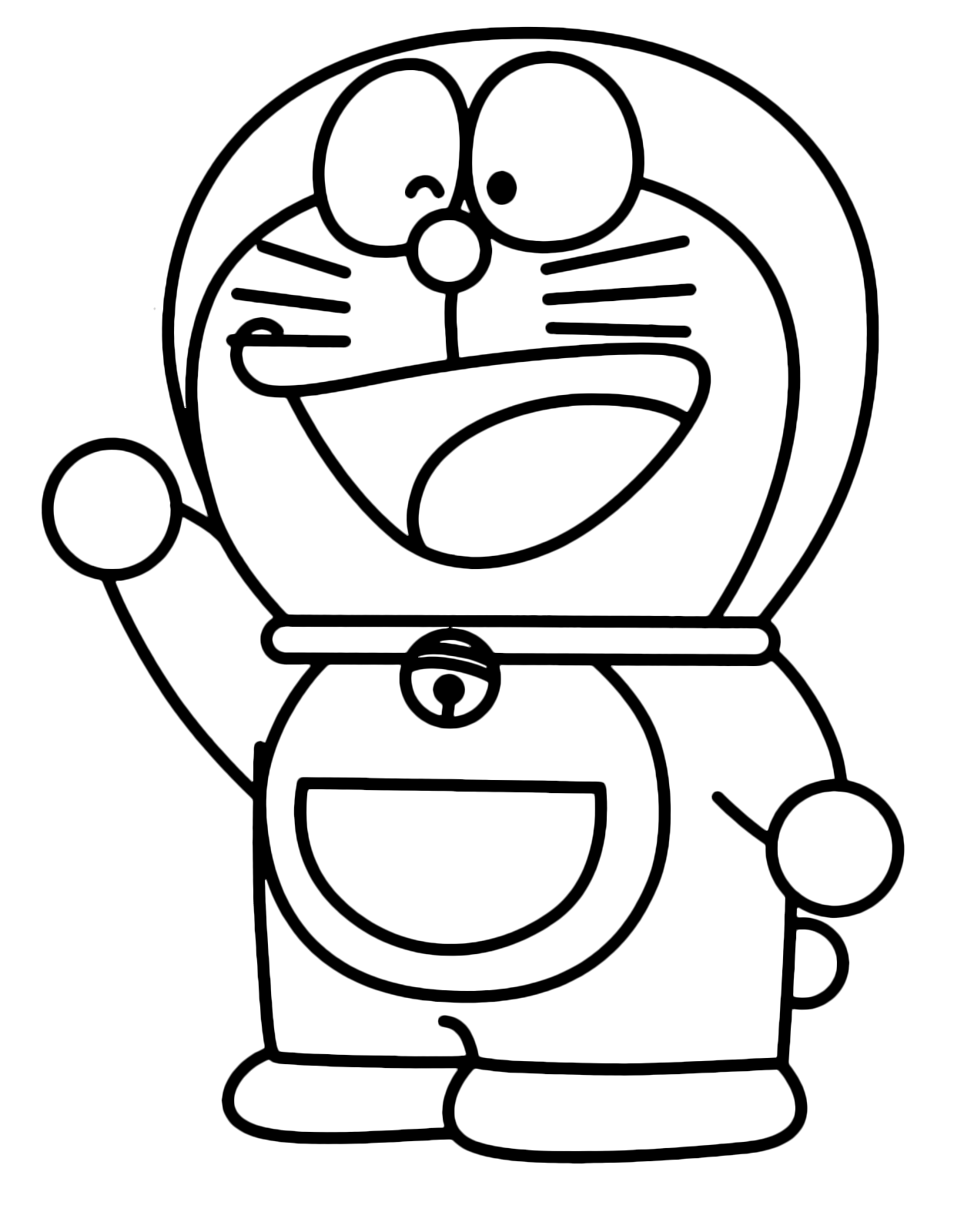 doraemon drawing colouring pages doraemon