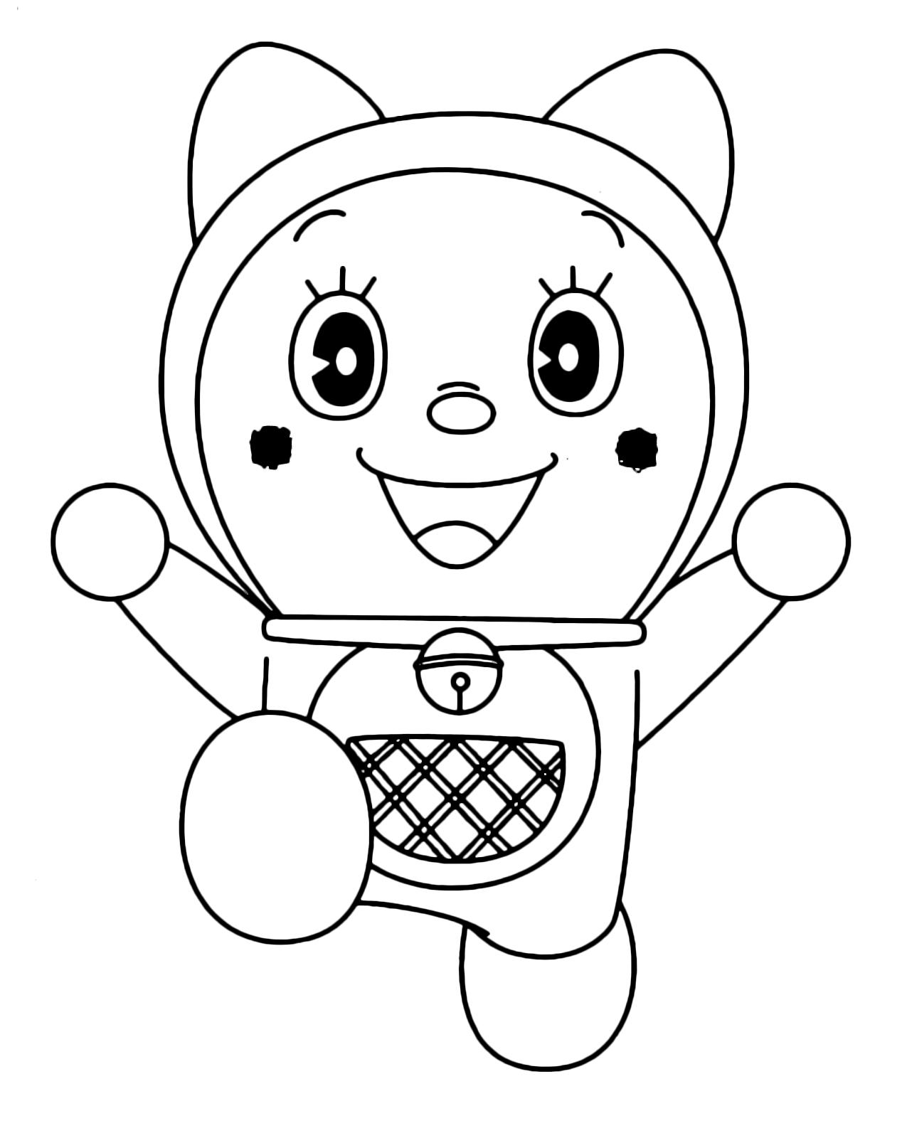Here: Home Doraemon Say Hi to Doraemon Coloring Pages - DORAEMON