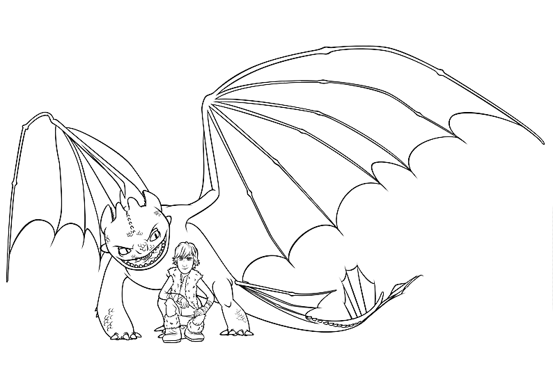 Free Coloring Pages Of Toothless And Hiccup Toothless Coloring Pages