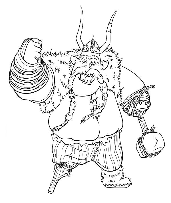 Dragon Trainer Il Vichingo Scaracchio Solleva Il Pugno