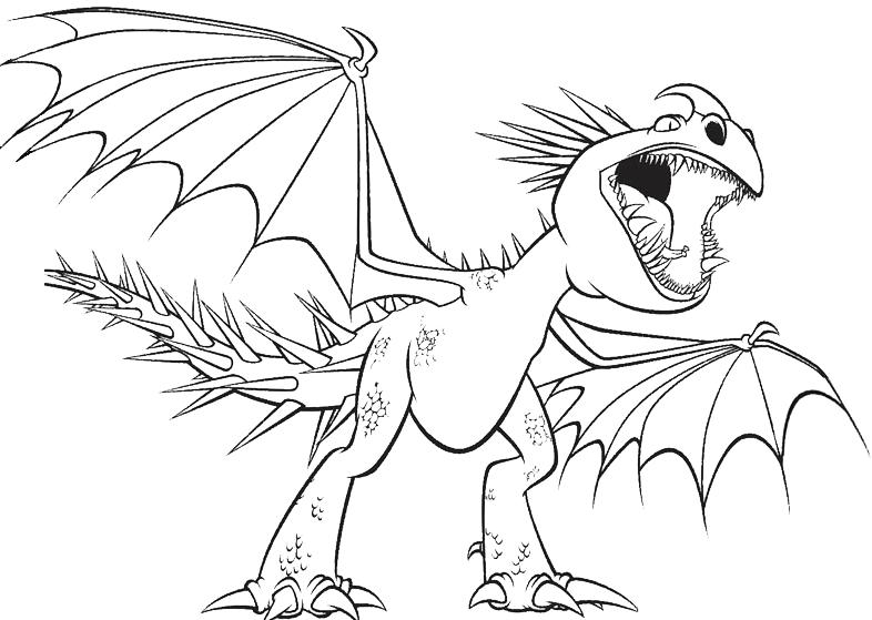Dragon trainer uncinato mortale con la bocca aperta for Bocca da colorare