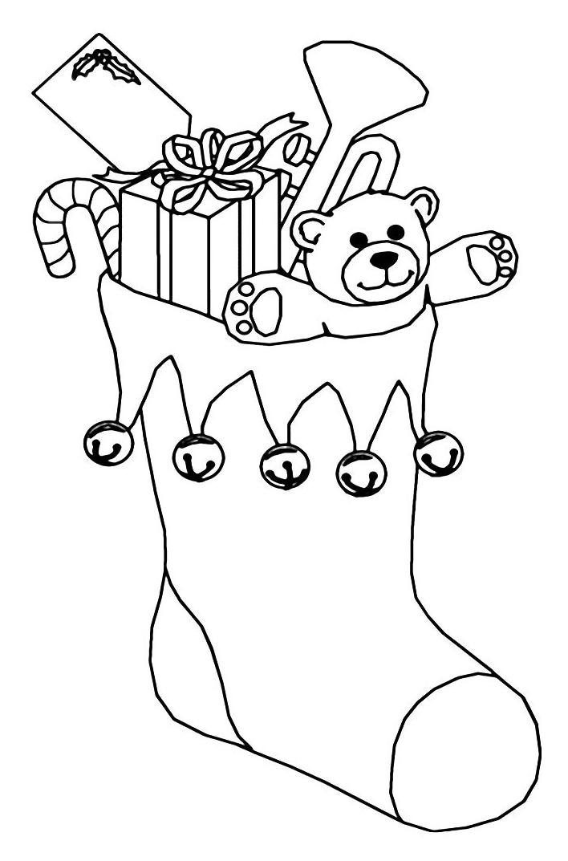 Epifania calza con biglietto piena di dolci e regali - Calza pagine da colorare ...