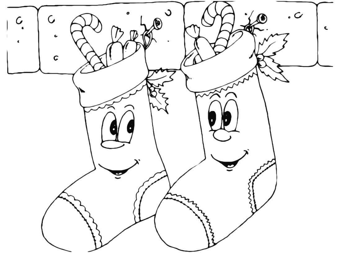 Epifania calze piene di dolciumi con faccia felice for Disegni da colorare befana