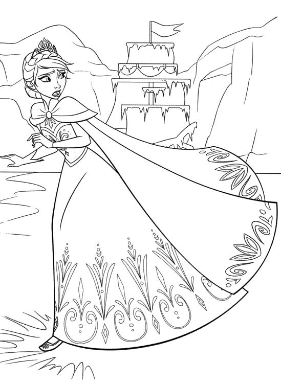 Castello Frozen Da Colorare Con Castello Di Ghiaccio Frozen Da